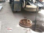 استجابة لصحافة المواطن.. صرف صحى القاهرة تطهر شارع جرجس حنا بعين شمس