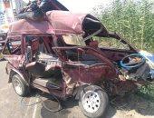 مصرع 3 أشخاص وإصابة سائق مجلس مدينة ههيا فى حادث تصادم بالشرقية