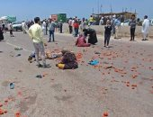 """إصابة 14 شخصاً بعد انقلاب سيارة """"ربع نقل"""" على الطريق الدولى بكفر الشيخ"""