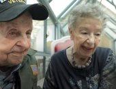لم شمل جندى أمريكى وفتاة فرنسية وقعا فى الحب منذ 75 سنة