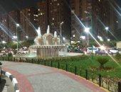 شاهد.. مدخل استاد القاهرة يتزين ليلاً بعد إضافة الإضاءة التجميلية