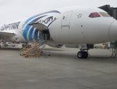 """طائرة مصر للطيران الجديدة تقلع من """"سياتل الأمريكية"""" فى طريقها لمطار القاهرة"""