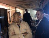 صور.. رئيس الكاف يتابع ترتيبات الافتتاح فى استاد القاهرة