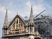 """شاهد.. كاتدرائية """"نوتردام"""" تحتفل بأول قداس منذ الحريق الكبير فى أبريل الماضى"""