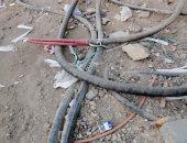 كابلات كهرباء مكشوفة بالمنطقة ص بحدائق الأهرام تهدد حياة الأهالى