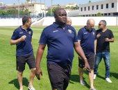 صور.. منتخب غينيا يُشيد بملعب جامعة الاسكندرية بعد المعاينة