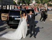 راموس يحتفل بزفافه على صديقته بعد 7 سنوات علاقة و3 أولاد
