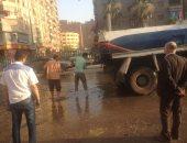 عطل بخط صرف صحى يتسبب فى غرق شوارع حى شرق شبرا الخيمة