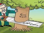 كاريكاتير الصحف الإماراتية.. أردوغان يهدم مدنية الدولة التركية لدعم الإخوان