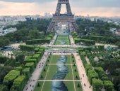 شاهد.. لوحة فنية عملاقة لدعم المهاجرين فى العاصمة الفرنسية باريس