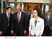 صور.. على عبد العال يلتقى مديرة لجنة شنغهاى بمجلس النواب الصينى