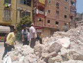 هدم العقارات الآيلة للسقوط غرب الإسكندرية حفاظا على أرواح المواطنين