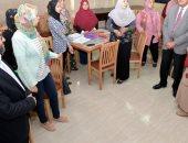 صور.. جولة تفقدية لرئيس جامعة المنصورة بلجان كلية التمريض
