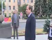 الرئيس السيسى يصل إلى ساحة النصب التذكارى بالعاصمة البيلاروسية مينسك