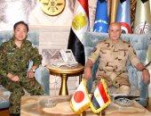 الفريق محمد فريد يلتقى رئيس هيئة الأركان المشتركة لقوات الدفاع الذاتى اليابانية
