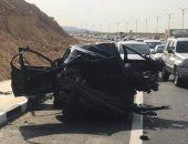 إصابة شخصين فى حادث تصادم سيارتين فى الصف