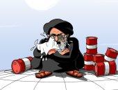 كاريكاتير الصحف السعودية.. إيران تبكى بسبب العقوبات الأمريكية