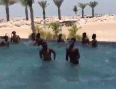 فيديو.. منتخب غانا ينقل تدريباته البدنية لحمام السباحة قبل أمم أفريقيا