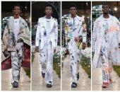 جيجى حديد تنهى عرض off white لملابس الرجال بأسبوع الموضة بباريس