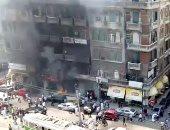 فيديو.. الحماية المدنية بالإسكندرية تسيطر على حريق بمحطة الرمل دون اصابات