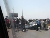 توقف حركة المرور أعلى محور صلاح سالم بسبب حادث تصادم وإصابة شخص