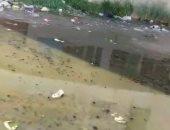 شكوى من انتشار مياه الصرف الصحى بمنطقة السيدة خديجة بورسعيد