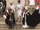 شاهد.. الملكة إليزابيث تستقبل العائلتين الملكيتين من هولندا وإسبانيا