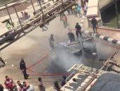 سائق توك توك ضبط بدون لوحات معدنية فأشعل النيران به وفر هاربا بالدقهلية