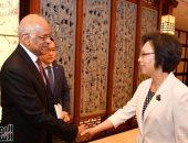 تفاصيل لقاء على عبد العال وقيادة هامة بالبرلمان الصينى