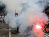 بسبب تسريب الامتحانات على فيس بوك.. مئات الطلاب يتظاهرون فى صربيا