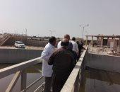 نائب الشركة القابضة ورئيس مياه الفيوم يتفقدان محطة معالجة قحافة لرفع كفاءتها