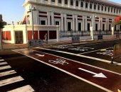 محيط استاد الإسكندرية يتزين استعدادا لانطلاق بطولة امم افريقيا 2019