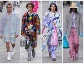 """ملابس الرجال بألوان الباستيل والورود فى عرض """"لويس فيتون"""" لربيع 2020 بباريس"""