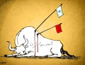 كاريكاتير صحف الإمارات.. الاحتلال يحكم قبضته على الجولان بتدشين هضبة ترامب
