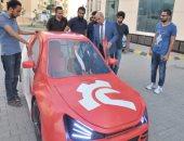 صور.. طلاب هندسة كفر الشيخ يصنعون 3 سيارات وشعارهم صنع فى مصر