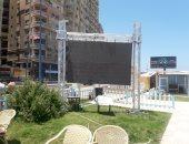 صور.. شاشات كبرى على شواطئ الإسكندرية لمشاهدة افتتاح كأس الأمم الأفريقية