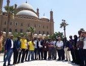 صور .. قيادات اتحاد الشباب الإفريقى يزورون قلعة صلاح الدين الأيوبى