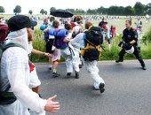 الشرطة الألمانية تتصدى لمسيرة غرب ألمانيا ضد تغيرات المناخ