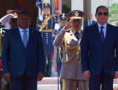 فيديو.. لحظة استقبال الرئيس السيسي لنظيره الموزمبيقى بقصر الاتحادية