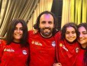 """""""شجع بلدك"""".. تامر يشارك صحافة المواطن بصور بناته يرتدين قميص منتخب مصر"""