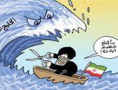 كاريكاتير الصحف الإماراتية.. قطر تعتمد على إيران والإخوان فى تهديد المنطقة