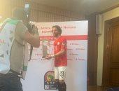 """محمود علاء: شكرا للرئيس السيسى وملايين المصريين على الدعم.. وكأس البطولة هو """"هدفنا"""""""