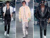 عرض أزياء Balmain لملابس الرجال على مسرح غنائى بأسبوع الموضة بباريس