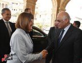 تفاصيل استقبال الدكتور على عبد العال لرئيسة الجمعية الوطنية الصربية