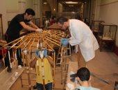 تعرف على خطوات ترميم مظلة توت عنخ آمون بالمتحف الكبير.. صور