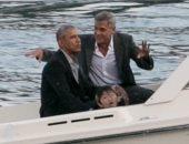 شاهد جورج كلونى مع باراك أوباما فى نزهة بالقارب بحيرة كومو بإيطاليا