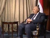 شكرى: أمن الخليج جزء لا يتجزأ من أمن مصر القومى ونرفض التدخل فى شؤونه