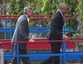 ماذا يفعل جورج وأمل كلونى برفقة أوباما فى إيطاليا؟.. صور