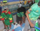 صور.. لقطة حضارية من جمهور موريتانيا بعد الخسارة من مالى فى استاد السويس
