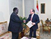 الرئيس السيسي: مصر مستمرة فى تقديم المساعدات والدعم الفنى لجنوب السودان